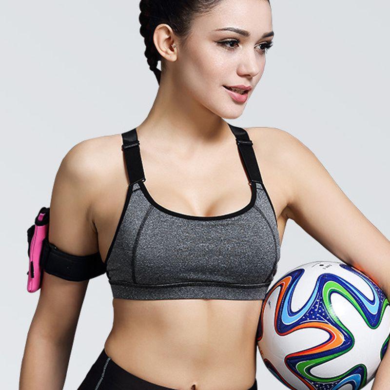 48577e0c2ce07 Women Absorb Sweat Quick Drying Professional Bra Top fitness Vest Wireless  Underwear for Women no rims
