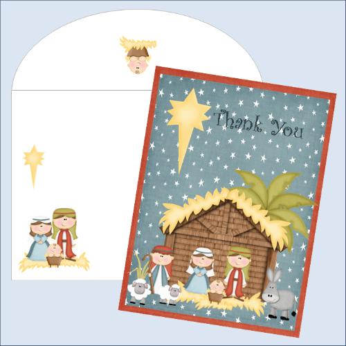 FREE printable Christmas thank-you card
