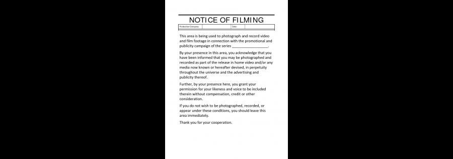 Casting Director Agreement Agreement between Casting Director and - location release form