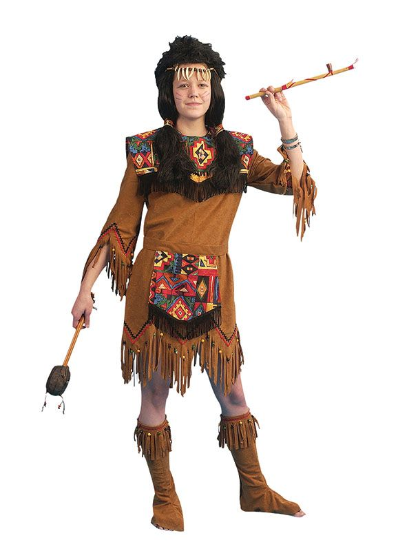 F91 Ladies Pocahontas Native American Indian Wild West Fancy Dress Party Costume