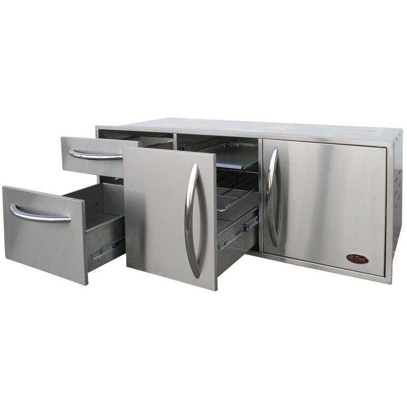 52 5 Stainless Steel Drop In Door Drawer Combo Outdoor Kitchen Cabinets Outdoor Kitchen Build Outdoor Kitchen