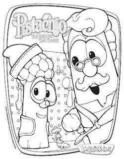 Veggie Tales Pistachio The Little Boy That Woodn T Coloring Pages