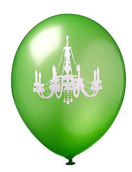 Green & White Chandelier Balloon by Evthokia