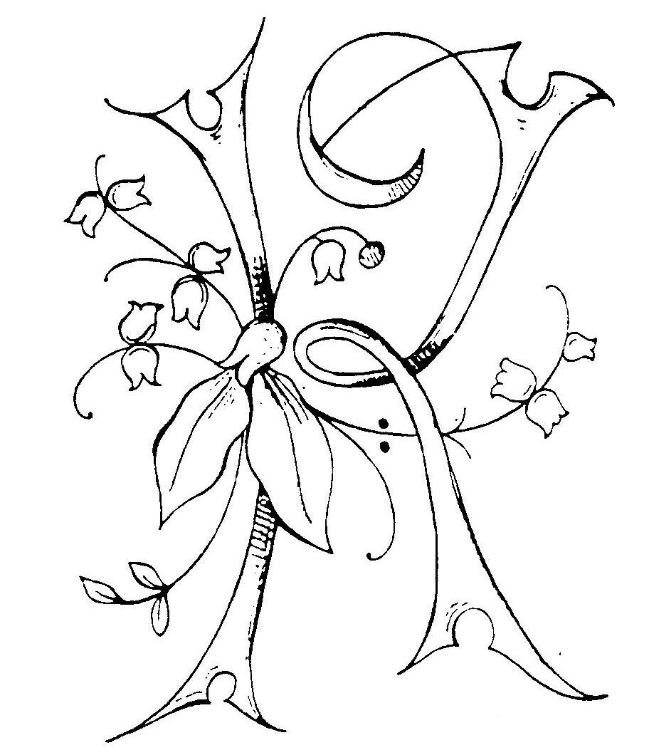 Embellished monogram,
