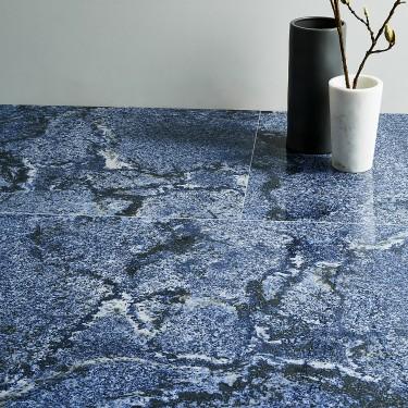 Eero Azul Bahia 24x36 Polished Porcelain Tile In 2020 Polished Porcelain Tiles Blue Granite Countertops Porcelain Tile