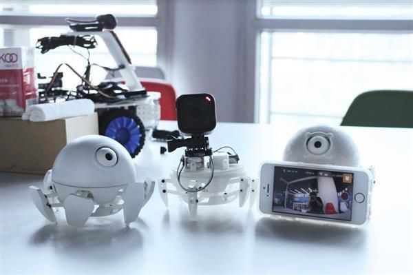 graphic about 3d Printable Robot called Meet up with Xpider, the smallest, cutest programmable 3D revealed