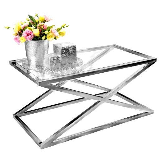 Stolik Kawowy Lawa Chrom Stal Szklo 90x50 Glamour 6953244500 Oficjalne Archiwum Allegro Side Table Home Decor Decor