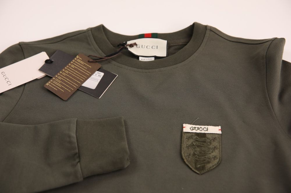 5fbec093 GUCCI MENS SWEATER JUMPER SIZE L GREEN COLOR LOGO ON CHEST MADE IN ITALY  AUTENTI #fashion #clothing #shoes #accessories #mensclothing #sweaters  (ebay link)