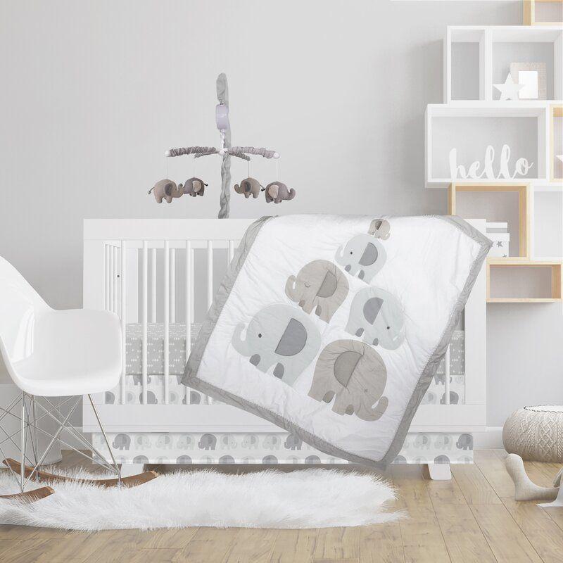 Bailey Elephant 4 Piece Crib Bedding Set Crib Bedding Sets Crib Bedding Elephant Crib Bedding