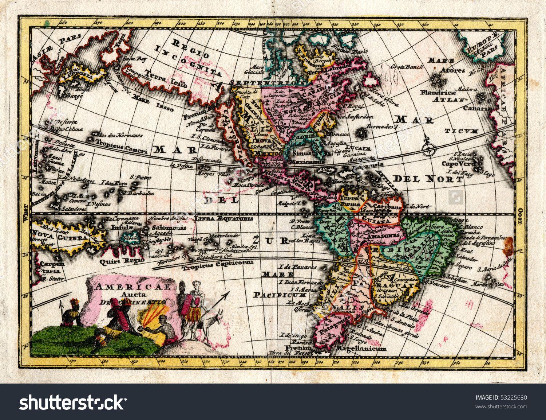 California Map Shutterstockcom.1730 Wiegel Map Of The Americas Showing California As An Island