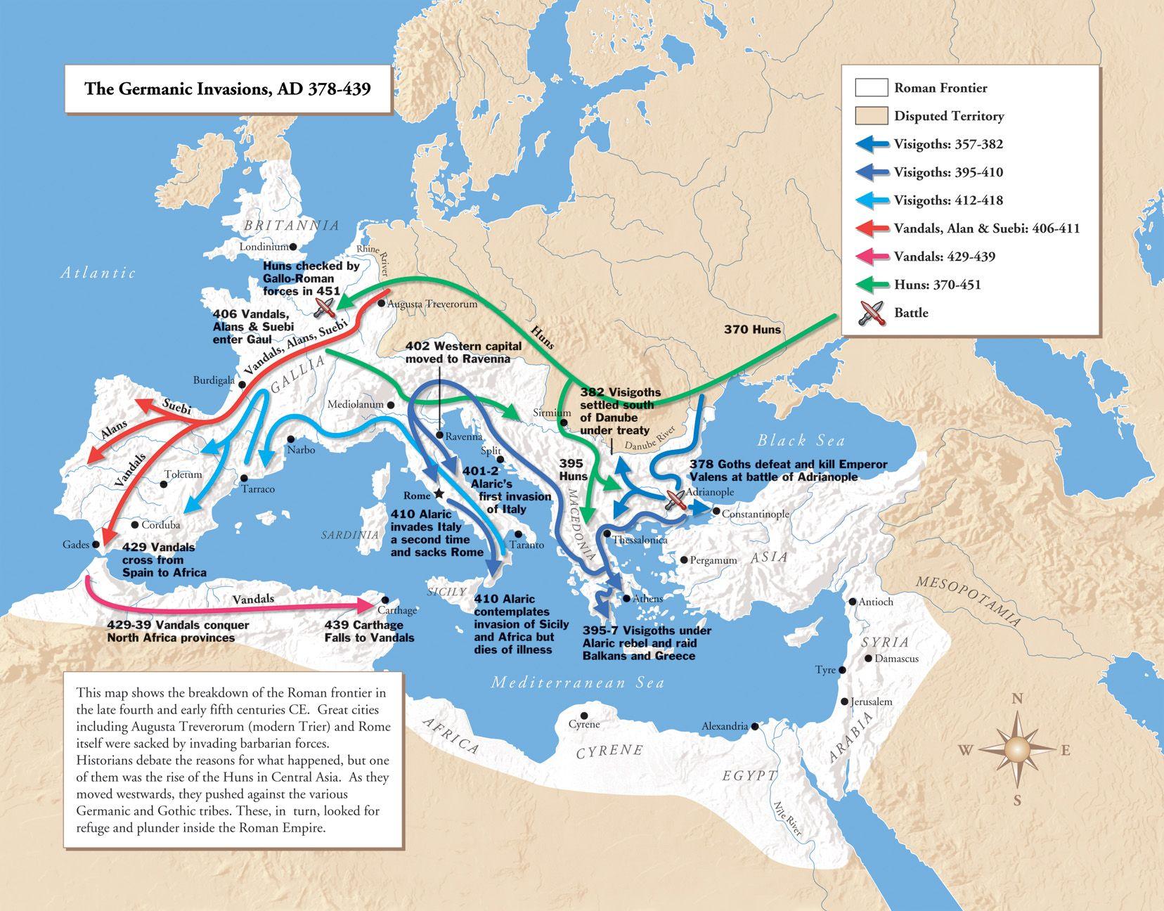Western Roman Empire Map