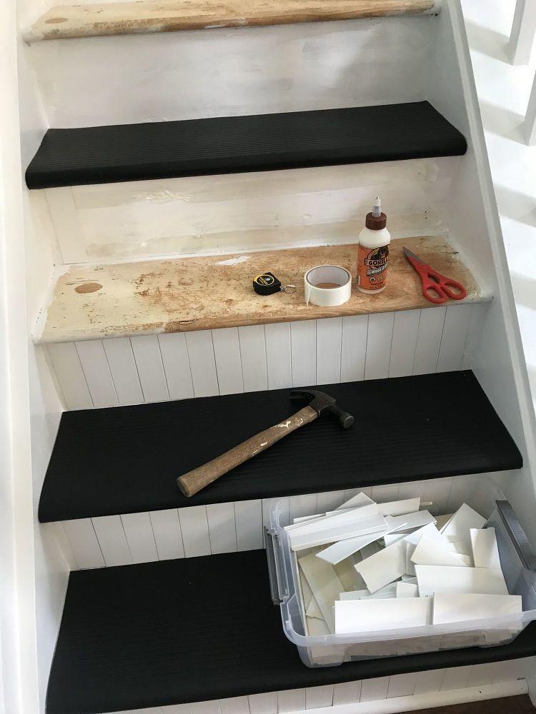 DIY Slip Free Stairs Update in 2018 Decor Indoor Features