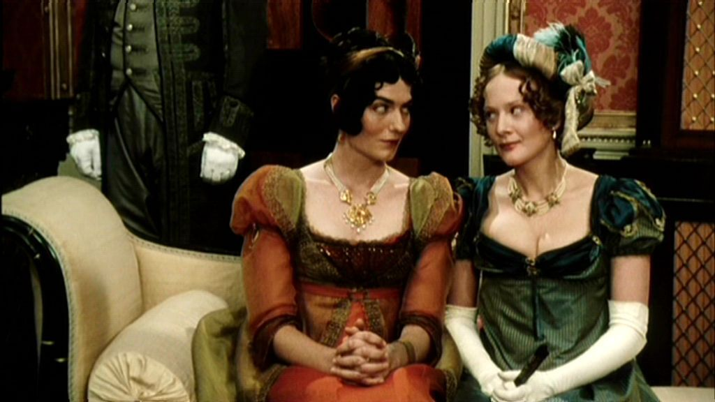 Bingley's sisters, Mrs. Hurst and Caroline Bingley, Pride and Prejudice 1995