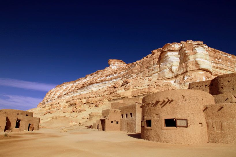 ancient egyptian houses images | adrere amellal indigenous eco hotel in egypt by EQI