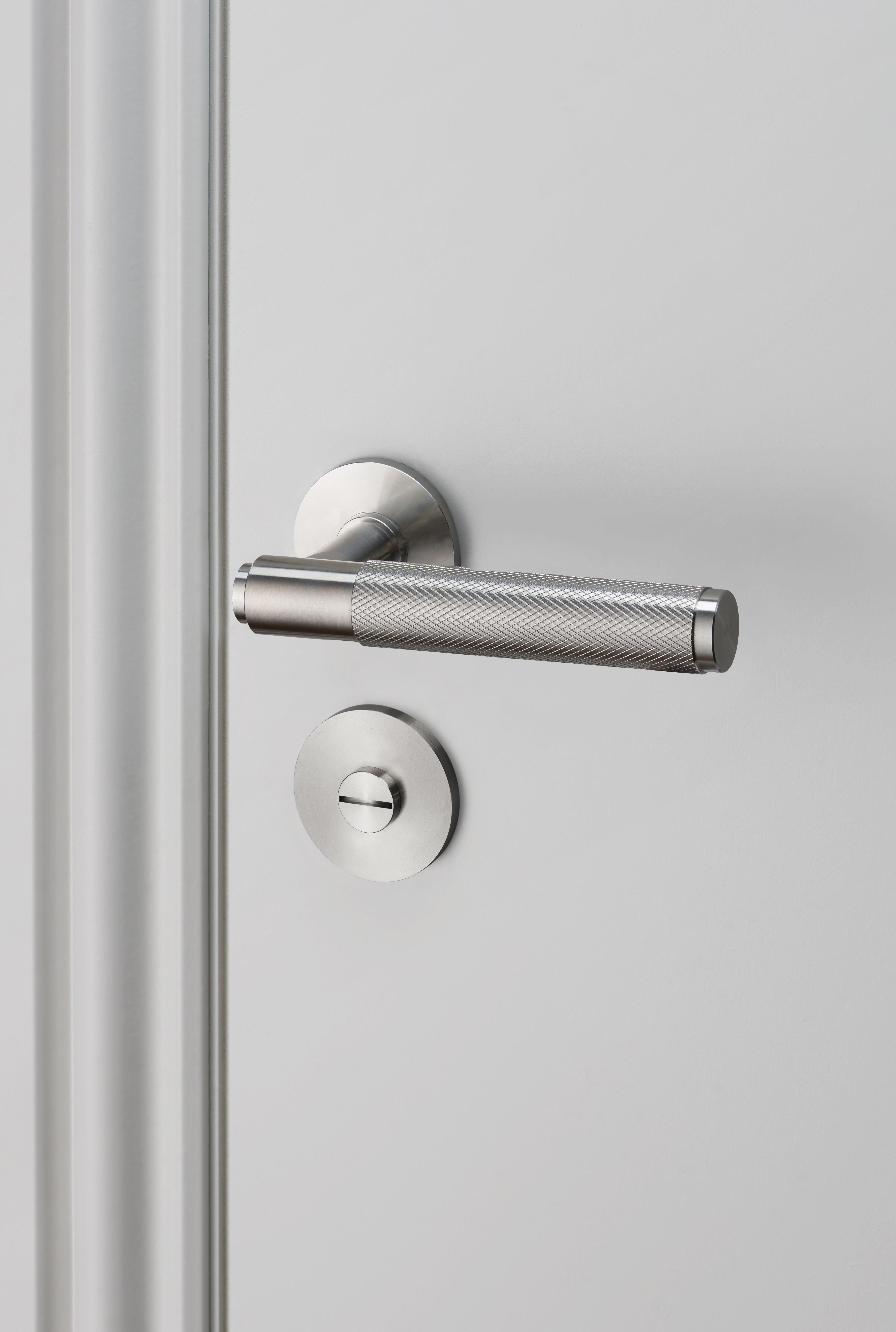 DOOR LEVER HANDLE STEEL And THUMBTURN LOCK STEEL By Buster - Commercial bathroom door handle