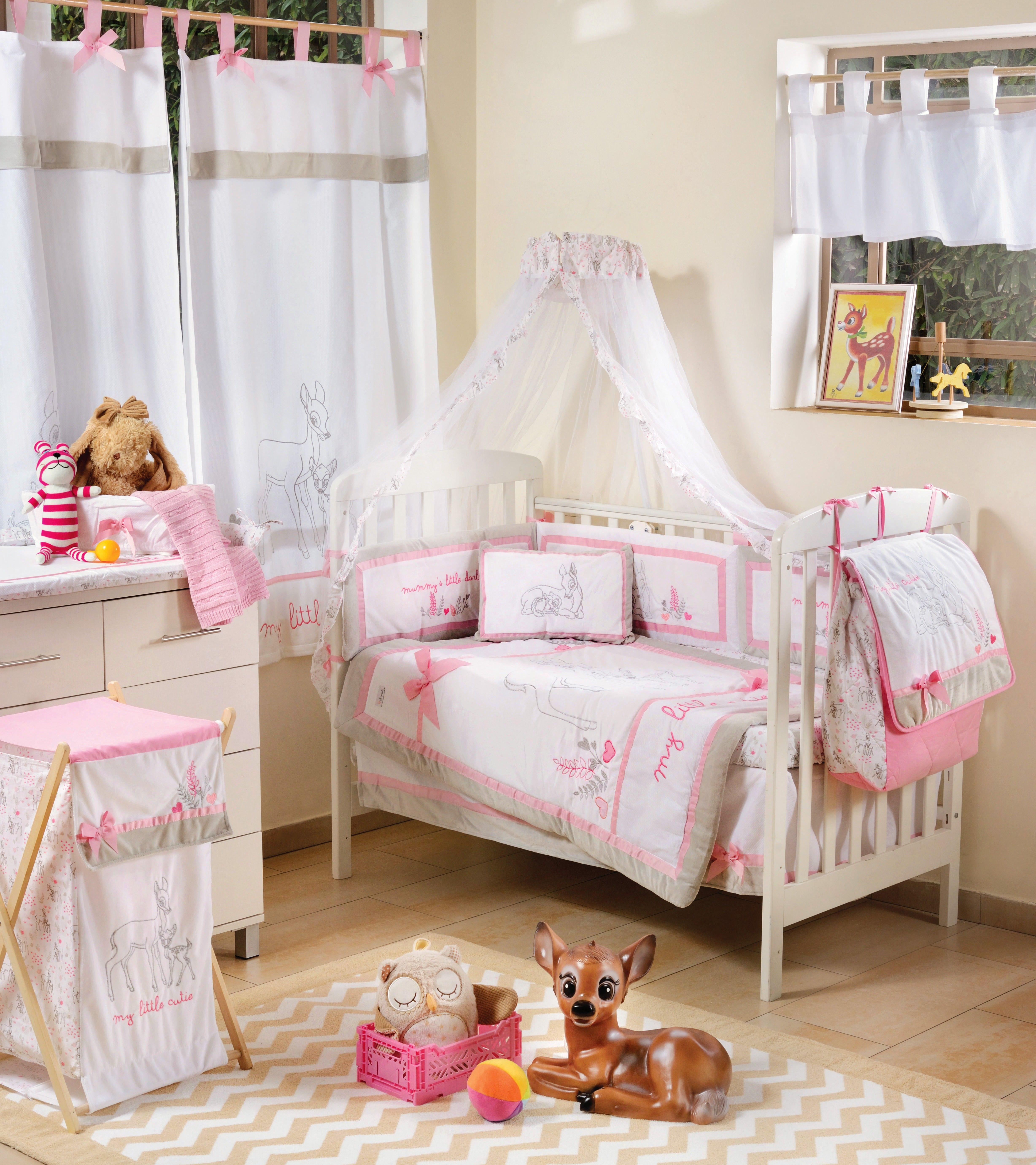 pink dearest bambi 4 pc crib bedding set disney baby. Black Bedroom Furniture Sets. Home Design Ideas