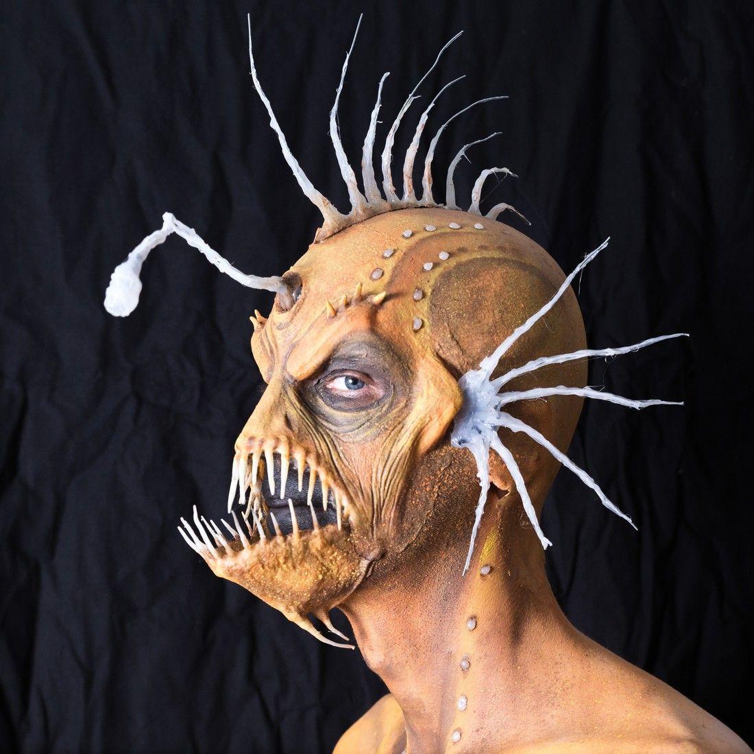 anglerfish sfx Halloween Theatrical makeup, Sea costume