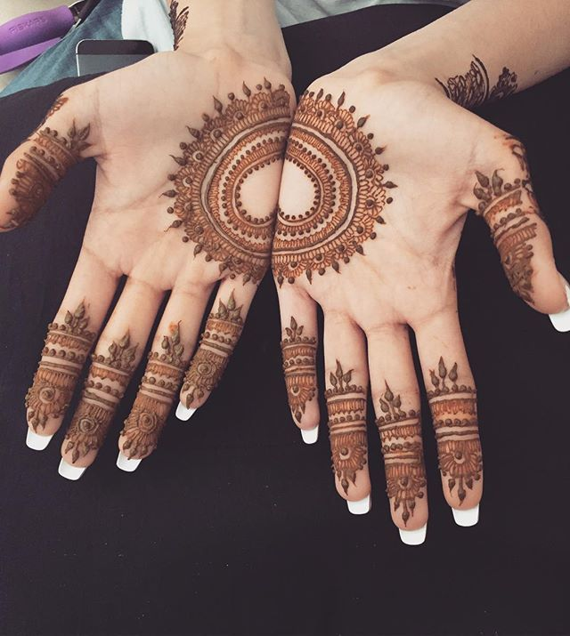 Simple Geometric Mehndi Design Good For A Simple Bridal Mehndi