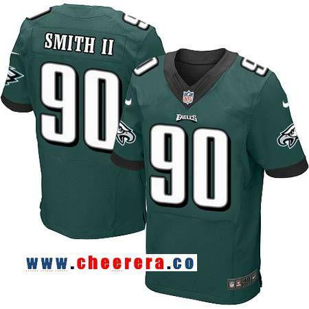 Men's Philadelphia Eagles #90 Marcus Smith II Midnight Green Team  for sale