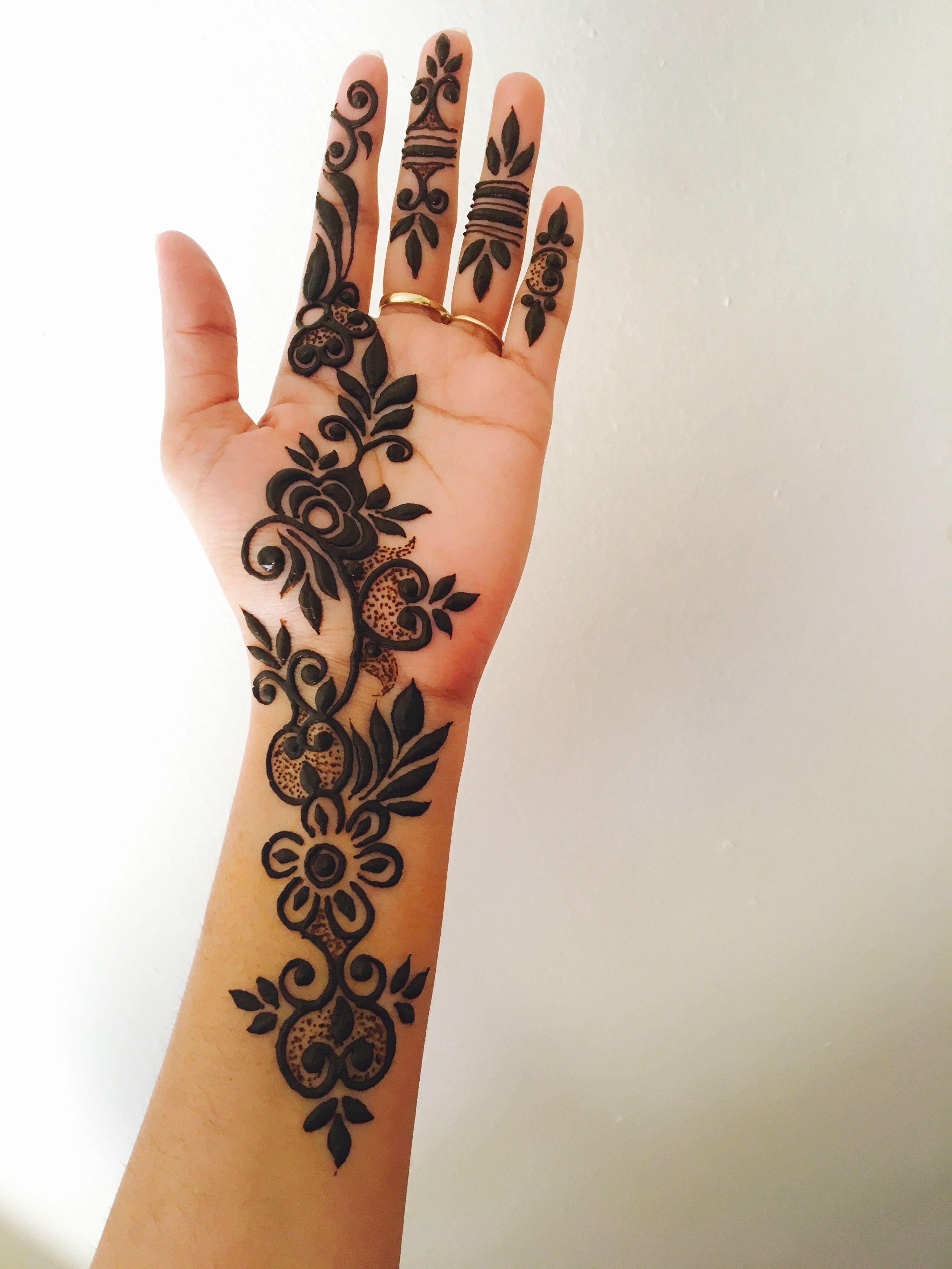 Khaleeji Henna Designs Tattoo: Mehndi Designs For Fingers, Latest