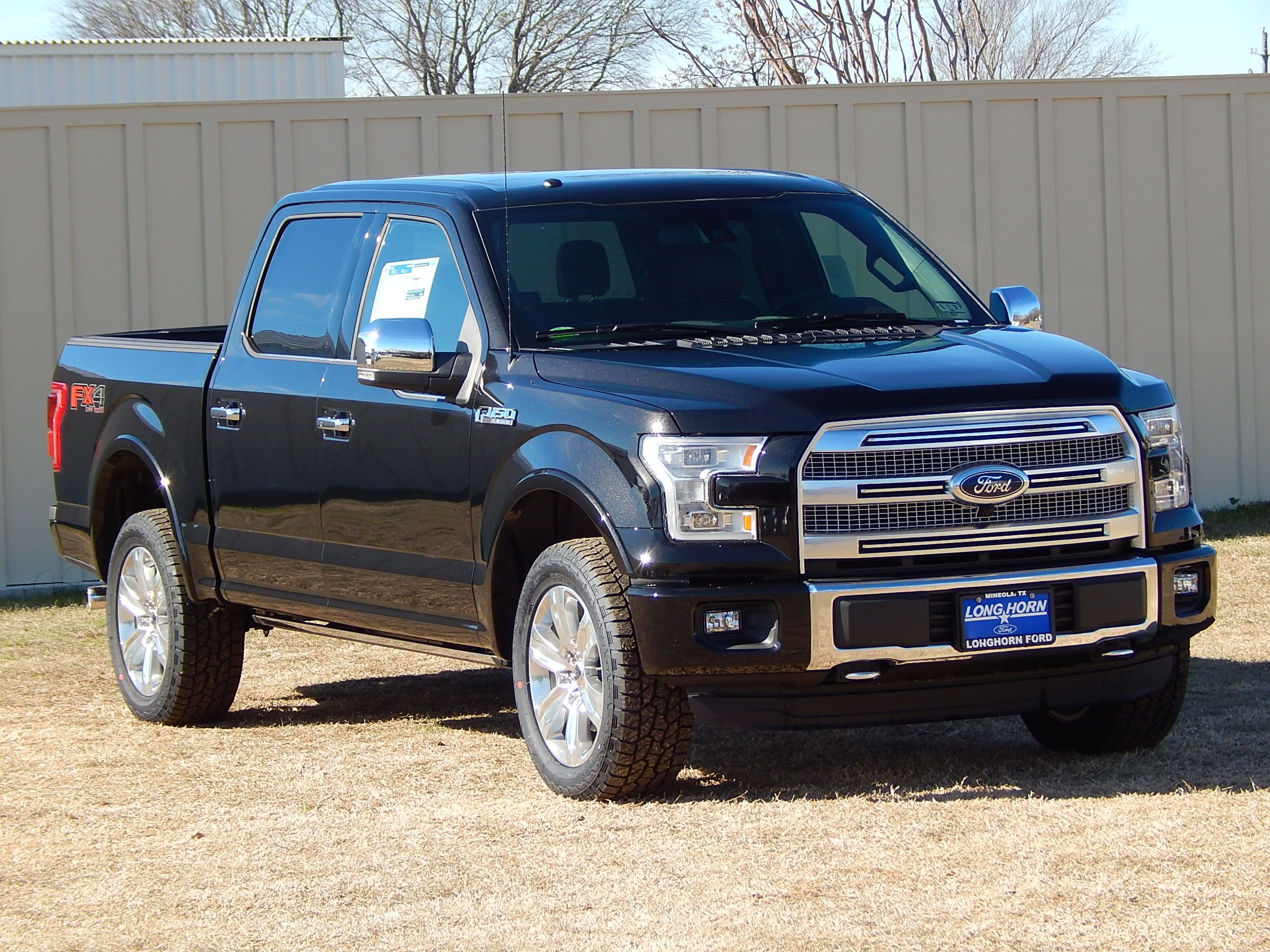 2015 Ford F150 Platinum 4X4 With The Black/Brunello Leather Interior. #F150
