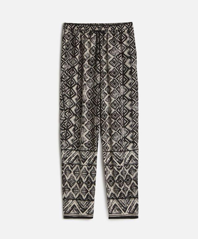 Pantalón largo geométrico - Pantalones - Tendencias AW 2016 en moda de mujer en…