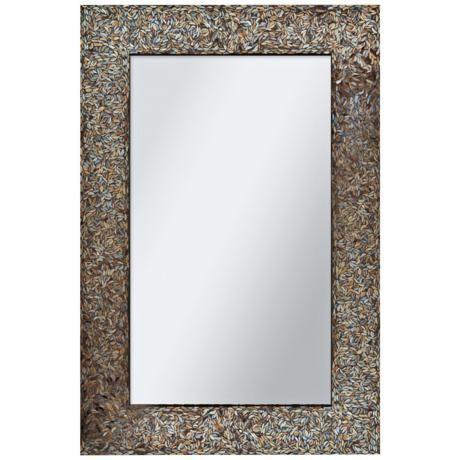 Amber Mosaic 24 X 36 Rectangular Wall Mirror 5h744 Lamps Plus Rectangular Mirror Contemporary Wall Mirrors Framed Mirror Wall 24 by 36 mirror