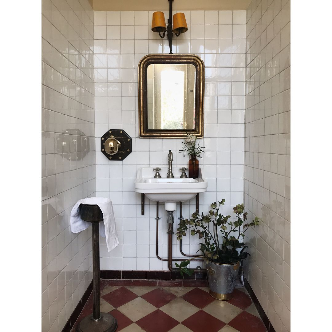 """Photo of Mimi Thorisson on Instagram: """"A rarely photographed part of our house are the harvest room bathrooms where harvesters used to shower before feasting on delicious, hearty…"""""""