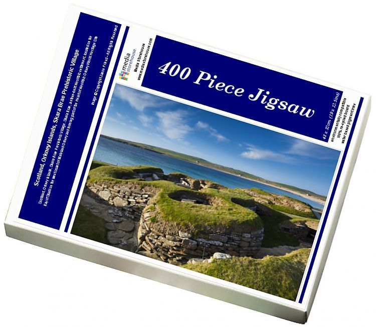 Jigsaw Puzzle-Scotland, Orkney Islands, Skara Brae Prehistoric Village-400 Piece Jigsaw Puzzle made to order in the UK
