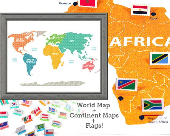 World map kid wall art international flags learning toys kids world map kid wall art international flags learning toys kids room decor gumiabroncs Image collections