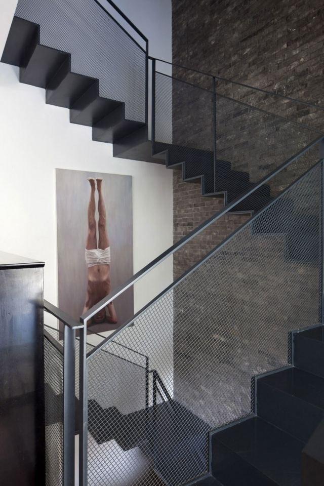 treppenhaus gestalten br stungen und stufen aus stahl blech treppe pinterest br stung. Black Bedroom Furniture Sets. Home Design Ideas