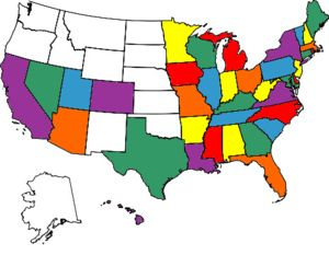 Go to every state! | States visited map, Us state map, U.s. ...