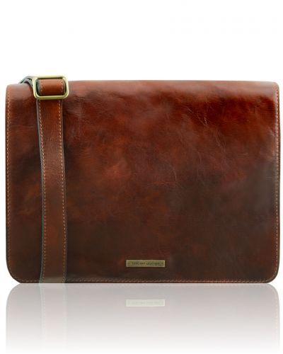 c0e34396fe2f TL MESSENGER TL141446 1 compartment leather shoulder bag - Large size