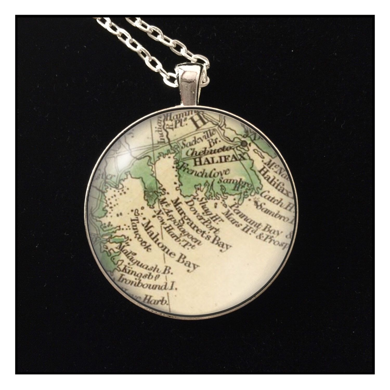 A personal favorite from my etsy shop httpsetsylisting items similar to oak island nova scotia halifax mahone bay antique map photo pendant necklace handmade gift on etsy gumiabroncs Gallery