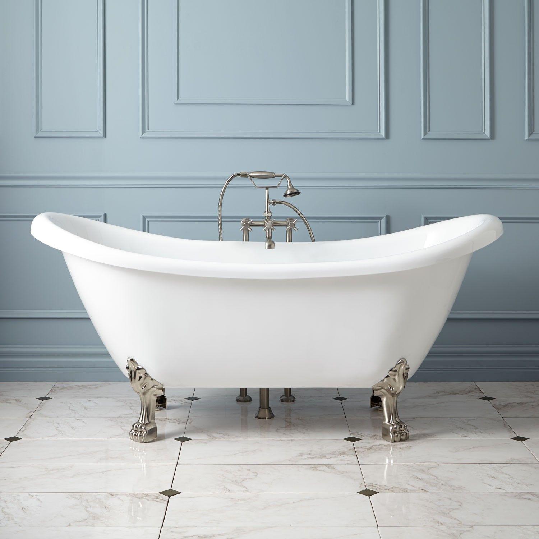 Rosalind Acrylic Clawfoot Tub - Lion Paw Feet | Bathroom Redo ...