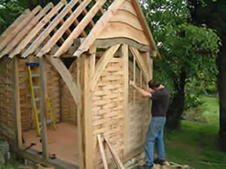 Traditional oak timber frame manufacture devon A frame barn plans