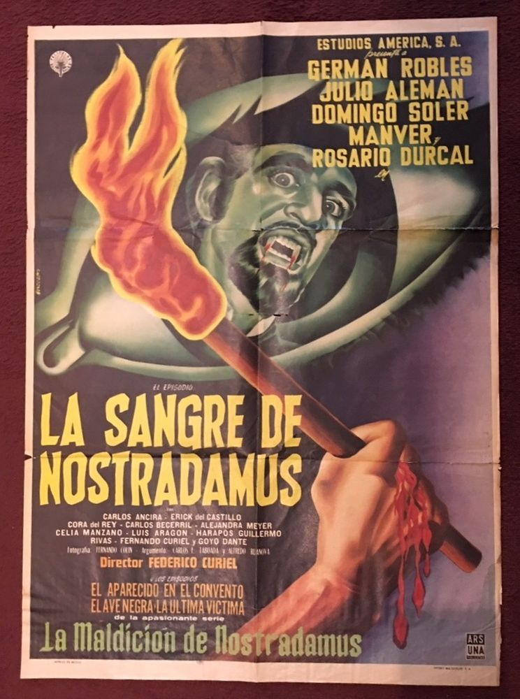 THE BLOOD OF NOSTRADAMUS (1962) Mexican Vampire Horror Film