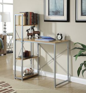 Convenience Concepts Office Work Station in Light Oak