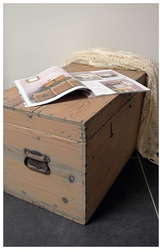 Landelijke Houten Kist.Landelijke Houten Kist Dekenkist Brocante Kisten Koffers