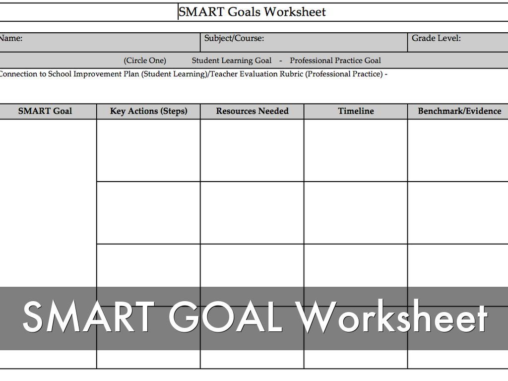 Image result for fitness smart goals grading rubric – Smart Goals Worksheet Pdf