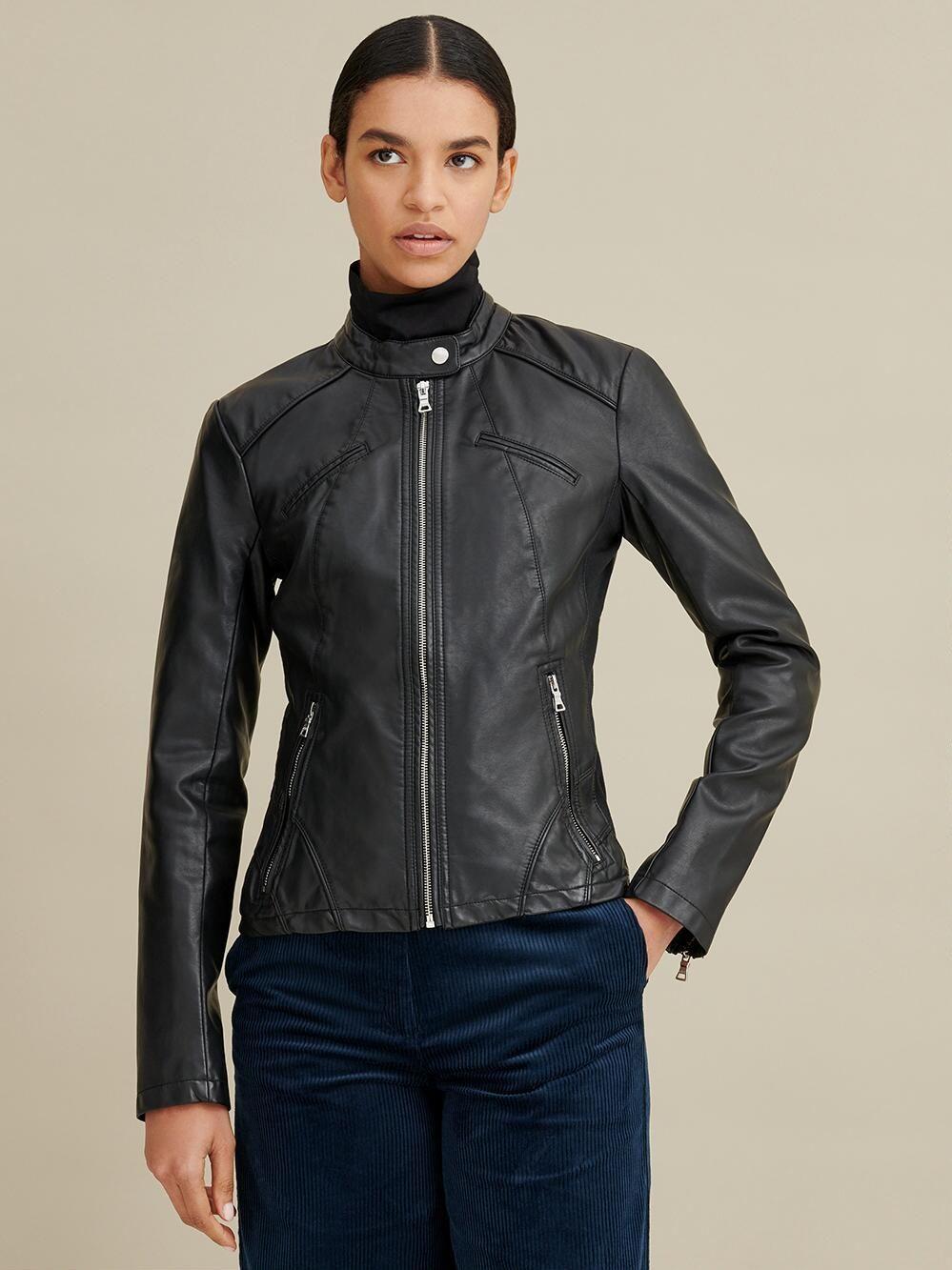 Stella Distressed Leather Jacket Wilsons Leather Leather Jackets Women Distressed Leather Jacket Scuba Jacket [ 1333 x 999 Pixel ]
