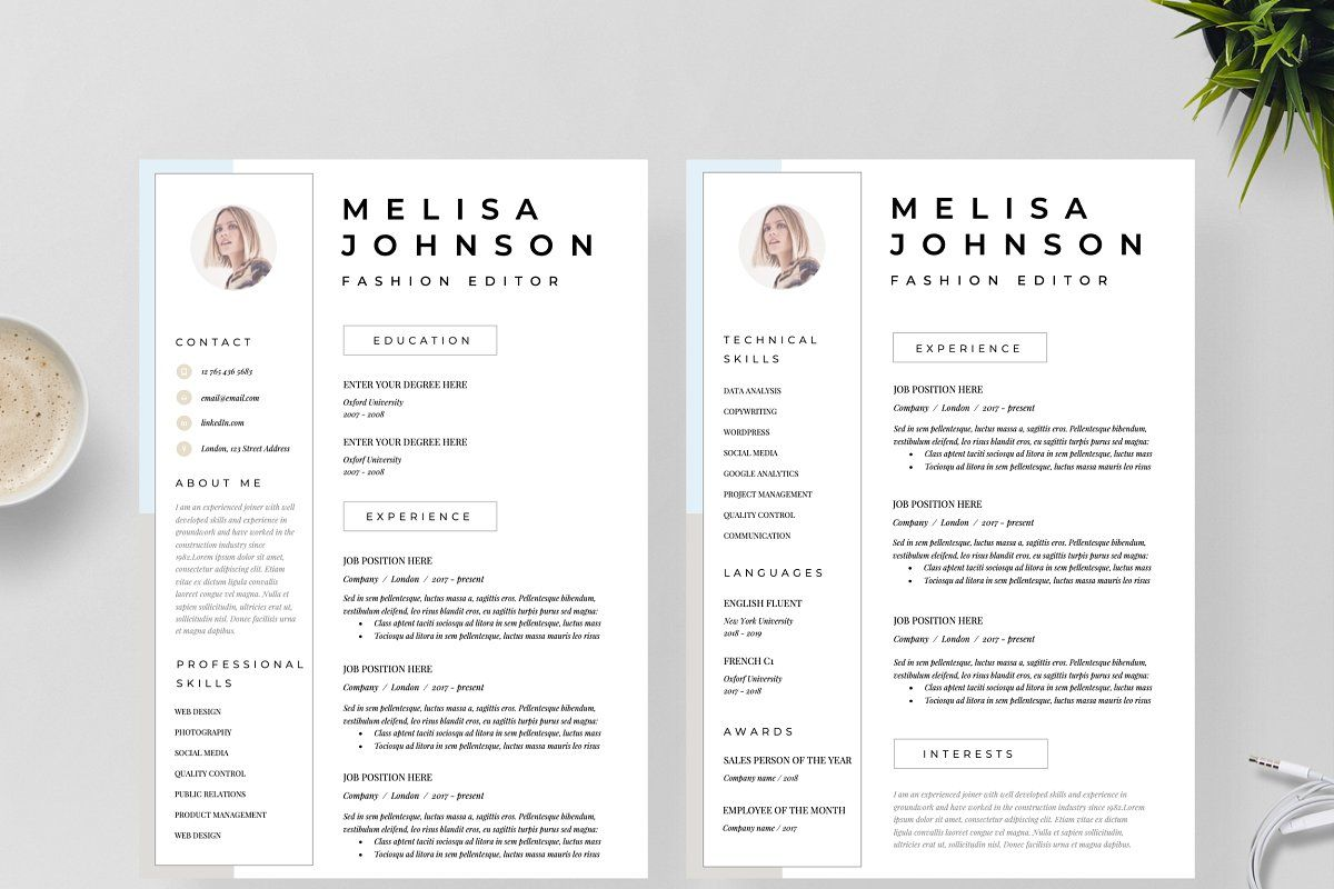 Resume Template 1 2 Page Seattle Resume Template Unique Resume Template Resume Design Template