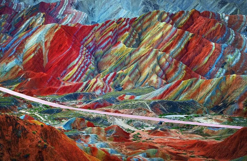 Geology Geo Magical Rainbow Mountains Of China... This layer cake of amazing…
