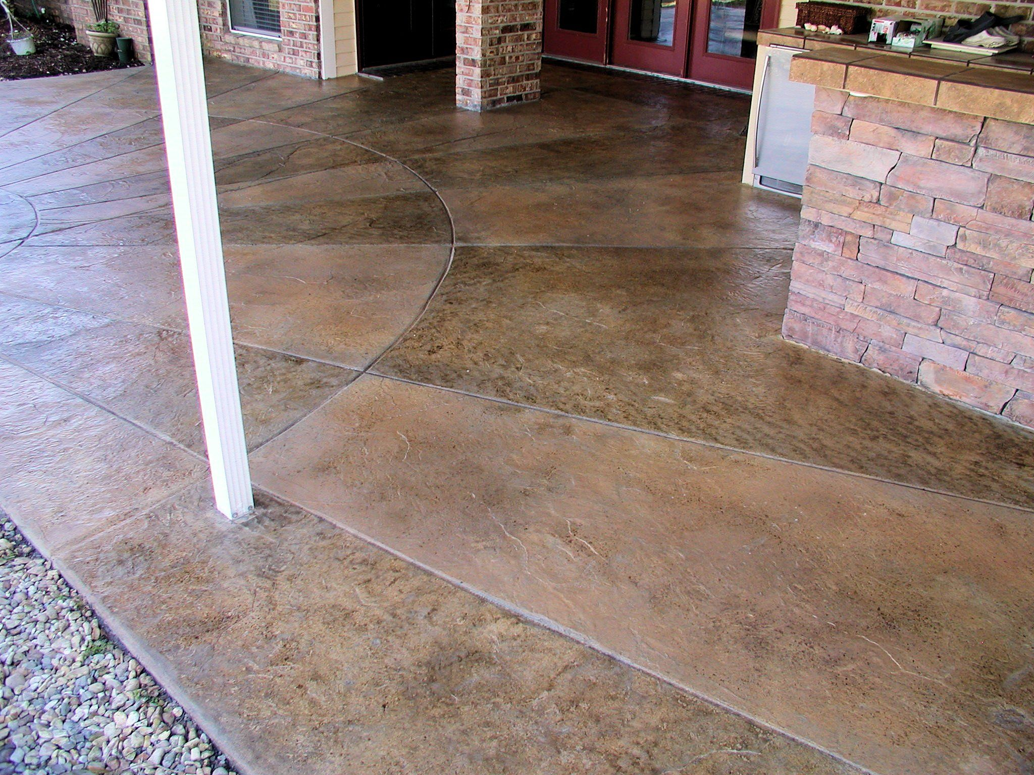 Concrete Miracles; Decorative Concrete Overlay; Italian Slate Design With  Taped Out Design For A