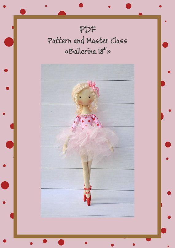 "Pdf Pattern Tutorial Hand Embroidery Stitch My Garden 002: PDF, Cloth Doll Pattern 15"",PDF Sewing Tutorial,Soft Doll"
