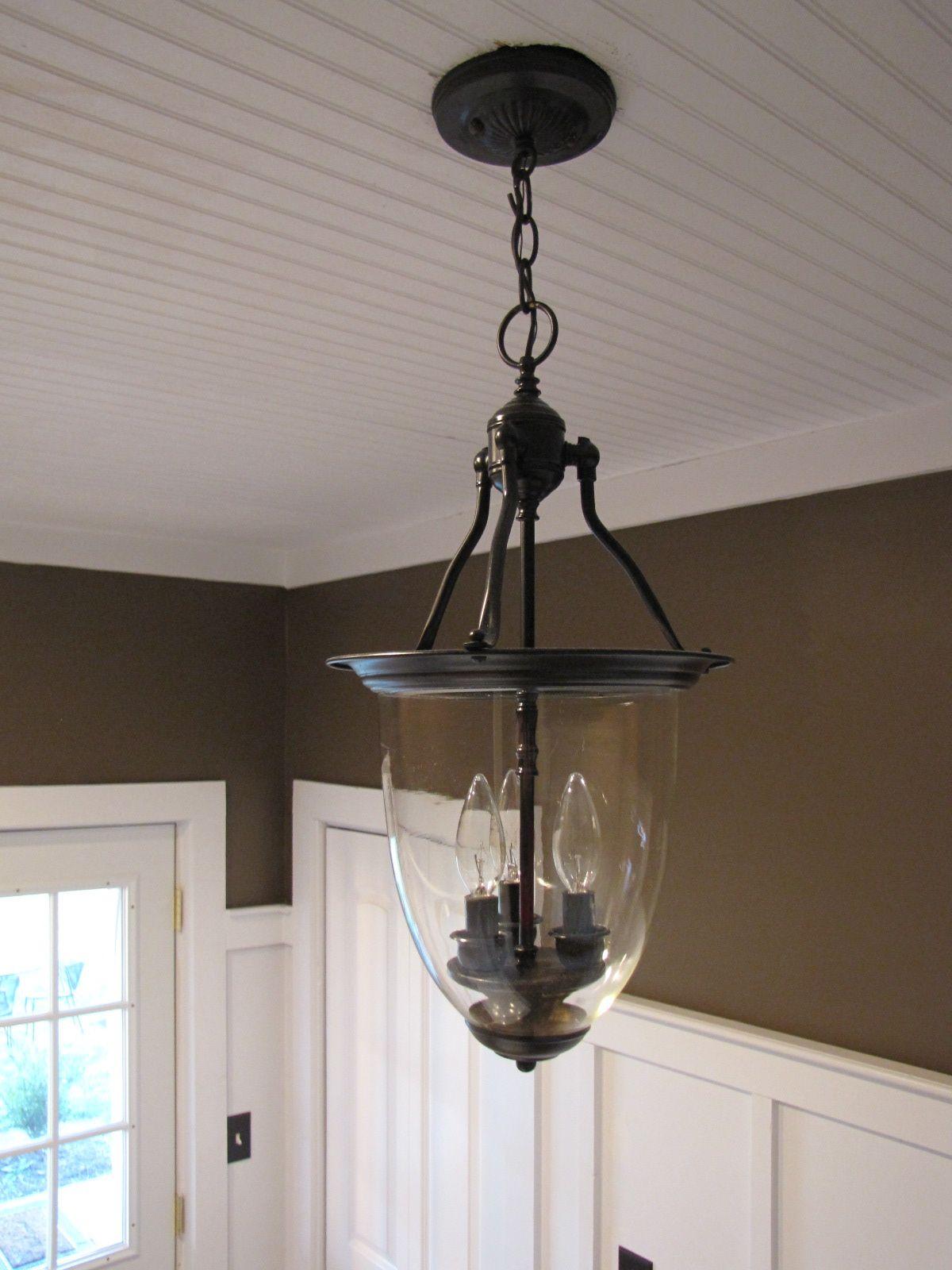 3 00 Brass Pendant Light Turned Into Pottery Barn Style Pottery