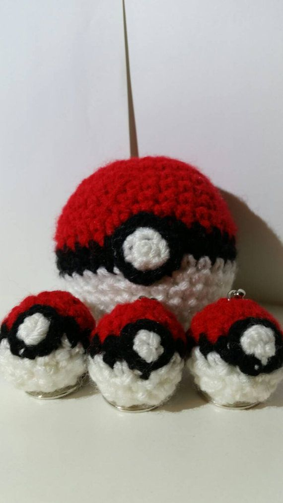 *Pictures coming soon!* 1 ball, 2 balls, red ball, pokeball, catchem all with your very own pokeball keychains :) If you dont see one of your