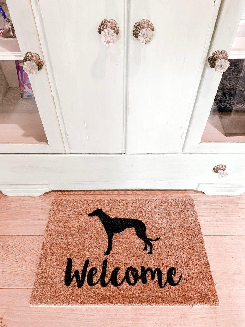 Greyhound dog doormat wedding gift housewarming gift