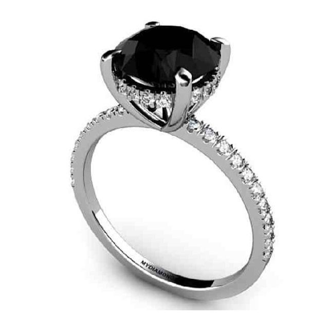 Black Diamond Engagement Ring Black Diamond Wedding Rings Black Engagement Ring Black Diamond Ring Engagement