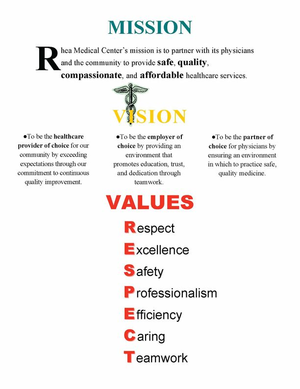 vision and mission statement examples pdf
